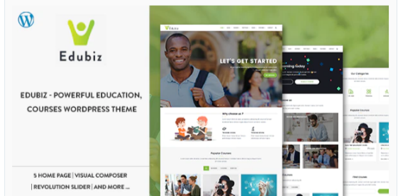 Download Edubiz – Powerful Education, Courses WordPress Theme Nulled