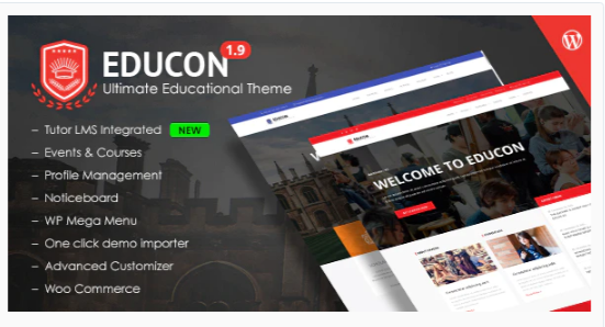 Download Educon – WordPress Education Theme with LMS compatibility Nulled