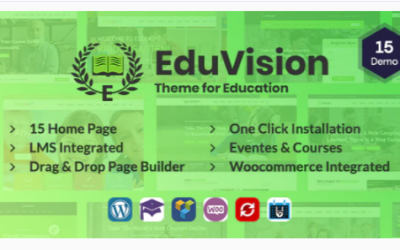 You are downloading Eduvision - Online Course Multipurpose Education WordPress Theme Nulled whose current version has been getting more updates nowadays, so, please