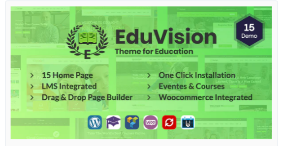Download Eduvision – Online Course Multipurpose Education WordPress Theme Nulled