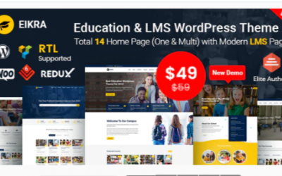 You are downloading Eikra - Education WordPress Theme Nulled whose current version has been getting more updates nowadays, so, please keep visiting for getting