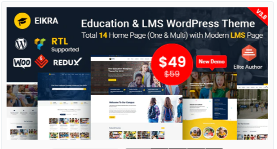 Download Eikra – Education WordPress Theme Nulled