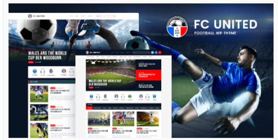 Download FC United   Football, Soccer WordPress Sports Theme Nulled
