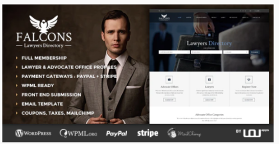 Download Falcons – Directory for Lawyers & Law Firms Nulled