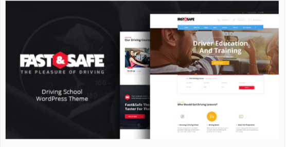 Download Fast & Safe | Driving School WordPress Theme Nulled