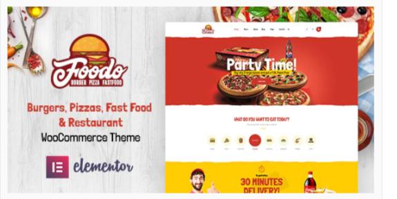 Download Foodo – Fast Food Restaurant WordPress Theme Nulled