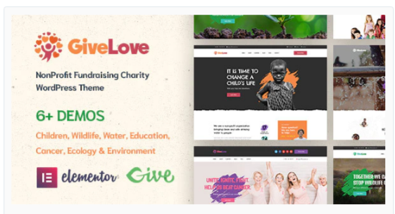 Download Givelove | Charity & Crowdfunding WordPress Theme Nulled