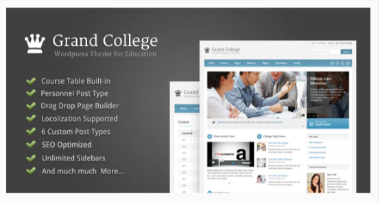Download Grand College – WordPress Theme For Education Nulled