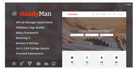 Download Handyman – Job Board WordPress Theme Nulled