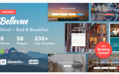 You are downloading Hotel + Bed and Breakfast Booking Calendar Theme | Bellevue Nulled whose current version has been getting more updates nowadays,