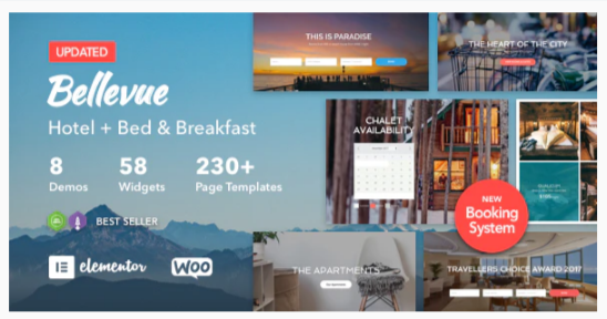 Download Hotel + Bed and Breakfast Booking Calendar Theme | Bellevue Nulled