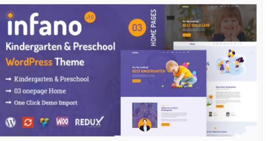 Download Infano – Kindergarten & Preschool WordPress Theme Nulled