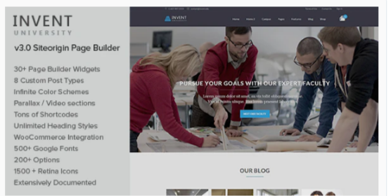 Download Invent – Education Course College WordPress Theme Nulled