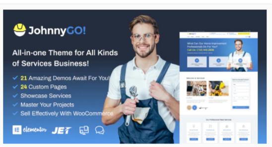 Download JohnnyGo – Handyman Service Elementor WordPress Theme Nulled