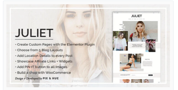 Download Juliet – A Blog & Shop Theme for WordPress Nulled