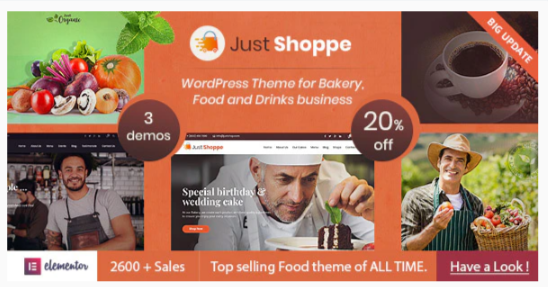 Download Justshoppe – Elementor Cake Bakery WordPress Theme Nulled