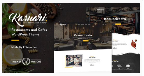 Download Kasuari | Restaurants and Cafes WordPress Theme Nulled