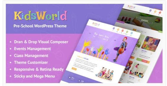 Download KidsWorld – Kindergarten and Child Care WordPress Theme Nulled