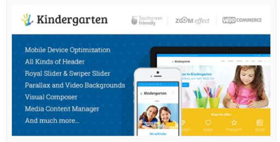 Download Kindergarten   Day Care & Children School Education WordPress Theme Nulled