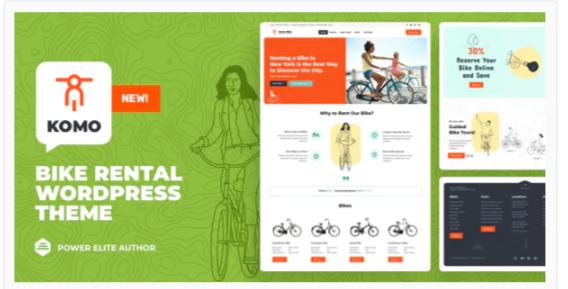 Download Komo – Bike Rental Shop WordPress Nulled