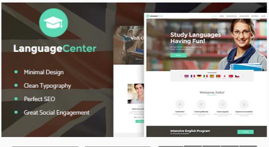 Download Language Center & Online School Education WordPress Theme Nulled