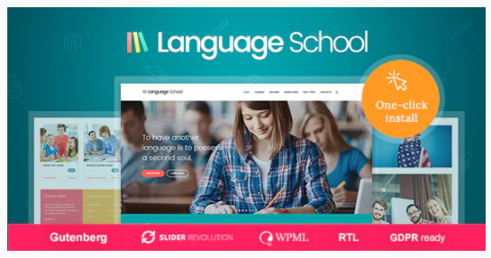 Download Language School – Courses & Learning Management System Education WordPress Theme Nulled