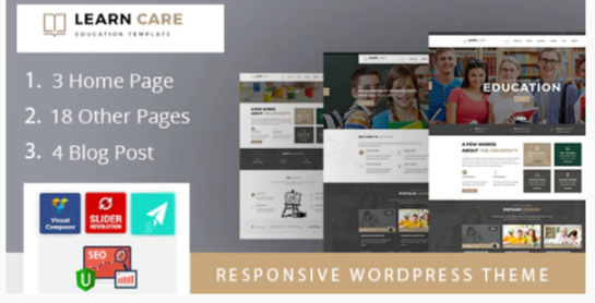 Download LearnCare Educational WordPress Theme Nulled