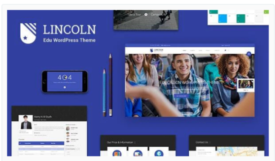 Download Lincoln – Education Material Design WordPress Theme Nulled