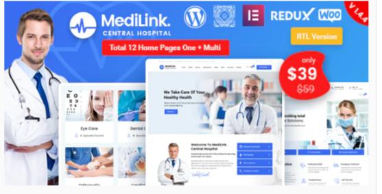 Download Medilink – Health & Medical WordPress Theme Nulled