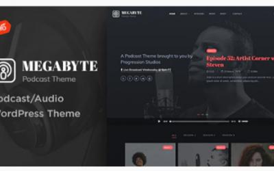Download Megabyte - Podcast/Audio WordPress Theme Nulled