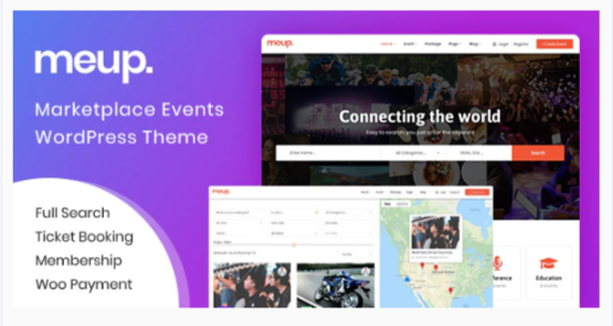 Download Meup – Marketplace Events WordPress Theme Nulled