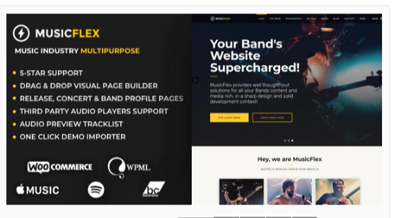 Download MusicFlex – WordPress Theme for Musicians Nulled