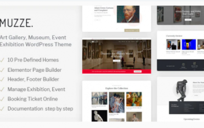 You are downloading Muzze - Museum Art Gallery Exhibition WordPress Theme Nulled whose current version has been getting more updates nowadays,