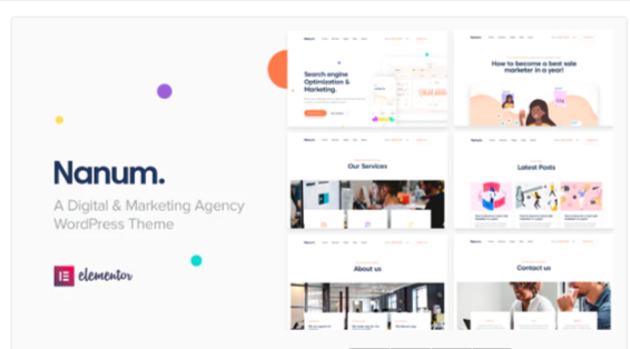 Download Nanum — Digital & Marketing Agency WordPress Theme Nulled