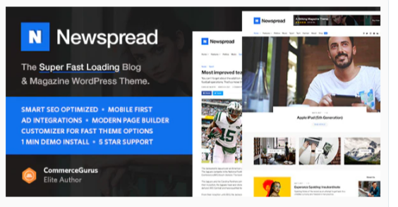 Download Newspread – Magazine, Blog, Newspaper and Review WordPress Theme Nulled