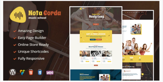 Download NotaCorda – Music School and Musicians WordPress Theme Nulled
