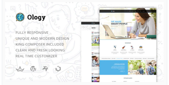 Download Ology — Classes for Primary, Secondary & High School Education WordPress Theme Nulled