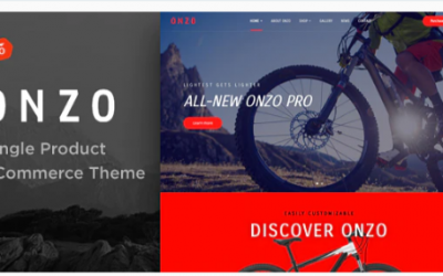 You are downloading Onzo - Single Product & Bike Shop eCommerce Theme Nulled whose current version has been getting more updates nowadays,