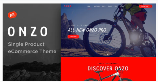 Download Onzo – Single Product & Bike Shop eCommerce Theme Nulled