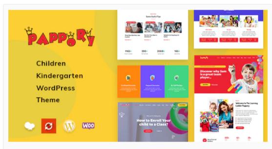 Download Pappory – Children Kindergarten WordPress Theme Nulled