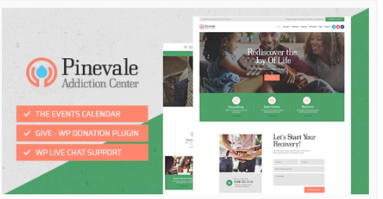 Download Pinevale | Addiction Recovery and Rehabilitation Center WordPress Theme Nulled