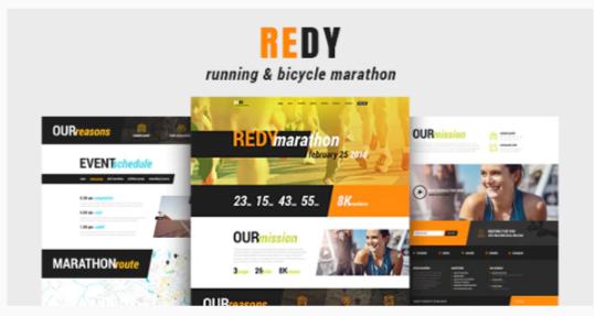 Download Redy   Marathon & Running Sports WordPress Theme Nulled