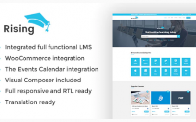 You are downloading Rising – LMS WordPress Theme Nulled whose current version has been getting more updates nowadays, so, please keep visiting for getting