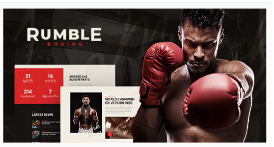 Download Rumble | Boxing & Mixed Martial Arts Fighting WordPress Theme Nulled