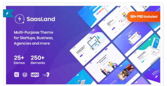 Download Saasland – MultiPurpose WordPress Theme for Startup Nulled
