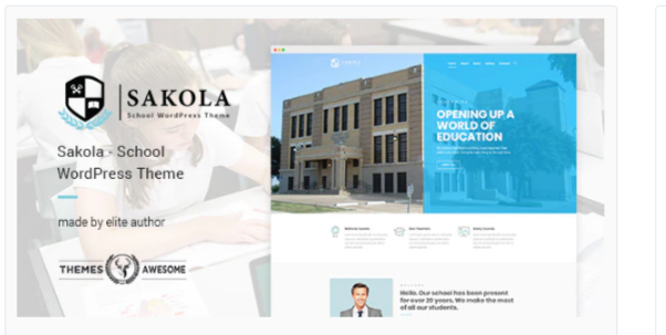 Download Sakola | School WordPress Theme Nulled