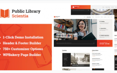You are downloading Scientia | Public Library & Book Store Education WordPress Theme Nulled whose current version has been getting more updates nowadays,