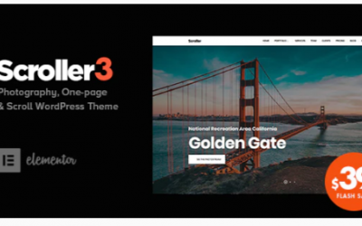 ou are downloading Scroller - Photography One Page / Multi-page WordPress Theme Nulled whose current version has been getting more updates nowadays,
