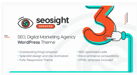 Download Seosight – SEO, Digital Marketing Agency WP Theme with Shop Nulled