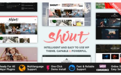 ou are downloading Shout - Blogging WordPress Theme Nulled whose current version has been getting more updates nowadays, so, please keep visiting